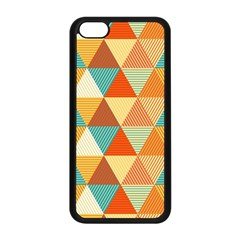 Triangles Pattern  Apple Iphone 5c Seamless Case (black) by TastefulDesigns