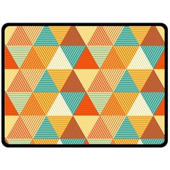 Triangles Pattern  Double Sided Fleece Blanket (large)  by TastefulDesigns