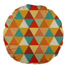 Triangles Pattern  Large 18  Premium Flano Round Cushions by TastefulDesigns