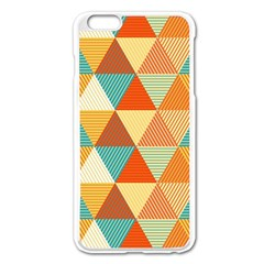 Triangles Pattern  Apple Iphone 6 Plus/6s Plus Enamel White Case by TastefulDesigns