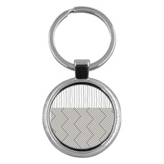 Lines And Stripes Patterns Key Chains (round)  by TastefulDesigns