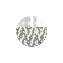 Lines And Stripes Patterns Golf Ball Marker (4 Pack) by TastefulDesigns