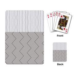 Lines And Stripes Patterns Playing Card by TastefulDesigns