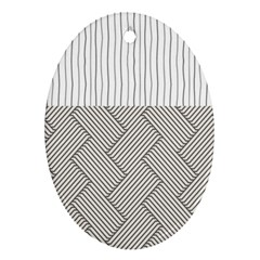 Lines And Stripes Patterns Oval Ornament (two Sides)