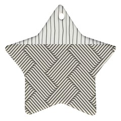 Lines And Stripes Patterns Star Ornament (two Sides) by TastefulDesigns