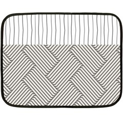 Lines And Stripes Patterns Double Sided Fleece Blanket (mini)  by TastefulDesigns