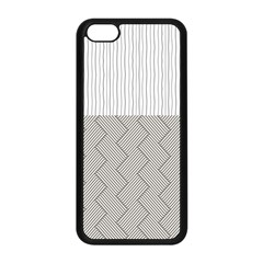 Lines And Stripes Patterns Apple Iphone 5c Seamless Case (black) by TastefulDesigns
