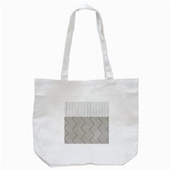 Lines And Stripes Patterns Tote Bag (white)