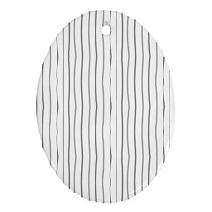 Hand Drawn Lines Pattern Ornament (oval)