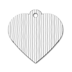 Hand Drawn Lines Pattern Dog Tag Heart (one Side) by TastefulDesigns