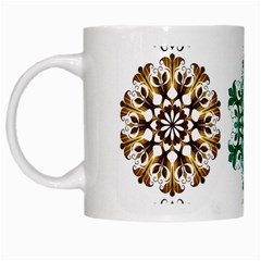 A Set Of 9 Nine Snowflakes On White White Mugs by Amaryn4rt