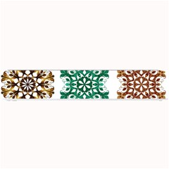 A Set Of 9 Nine Snowflakes On White Small Bar Mats by Amaryn4rt
