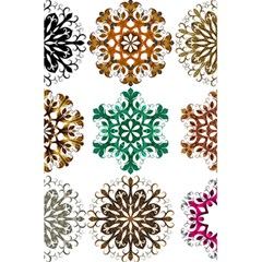 A Set Of 9 Nine Snowflakes On White 5 5  X 8 5  Notebooks by Amaryn4rt