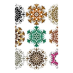A Set Of 9 Nine Snowflakes On White Shower Curtain 48  X 72  (small)  by Amaryn4rt