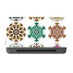 A Set Of 9 Nine Snowflakes On White Memory Card Reader With Cf by Amaryn4rt