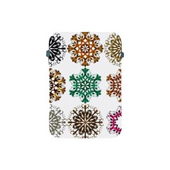 A Set Of 9 Nine Snowflakes On White Apple Ipad Mini Protective Soft Cases by Amaryn4rt