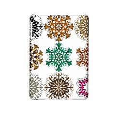 A Set Of 9 Nine Snowflakes On White Ipad Mini 2 Hardshell Cases by Amaryn4rt