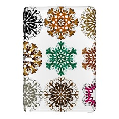 A Set Of 9 Nine Snowflakes On White Samsung Galaxy Tab Pro 10 1 Hardshell Case by Amaryn4rt