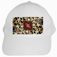 Animal Tissue And Flowers White Cap by Amaryn4rt