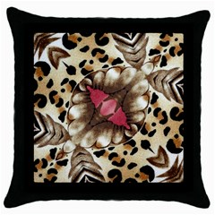 Animal Tissue And Flowers Throw Pillow Case (black) by Amaryn4rt