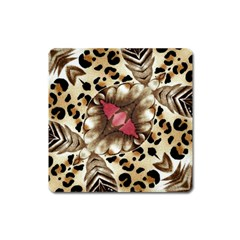 Animal Tissue And Flowers Square Magnet by Amaryn4rt