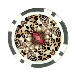 Animal Tissue And Flowers Poker Chip Card Guard by Amaryn4rt