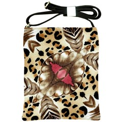 Animal Tissue And Flowers Shoulder Sling Bags by Amaryn4rt