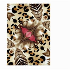 Animal Tissue And Flowers Large Garden Flag (two Sides) by Amaryn4rt