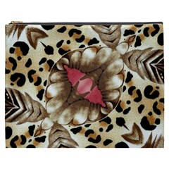 Animal Tissue And Flowers Cosmetic Bag (xxxl)  by Amaryn4rt