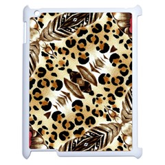 Background Fabric Animal Motifs And Flowers Apple Ipad 2 Case (white) by Amaryn4rt