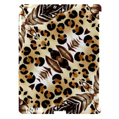 Background Fabric Animal Motifs And Flowers Apple Ipad 3/4 Hardshell Case (compatible With Smart Cover) by Amaryn4rt