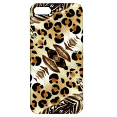 Background Fabric Animal Motifs And Flowers Apple Iphone 5 Hardshell Case With Stand by Amaryn4rt