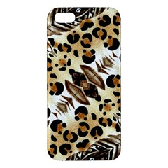 Background Fabric Animal Motifs And Flowers Apple Iphone 5 Premium Hardshell Case by Amaryn4rt