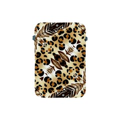 Background Fabric Animal Motifs And Flowers Apple Ipad Mini Protective Soft Cases by Amaryn4rt