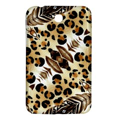 Background Fabric Animal Motifs And Flowers Samsung Galaxy Tab 3 (7 ) P3200 Hardshell Case  by Amaryn4rt