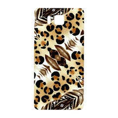 Background Fabric Animal Motifs And Flowers Samsung Galaxy Alpha Hardshell Back Case by Amaryn4rt