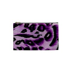 Background Fabric Animal Motifs Lilac Cosmetic Bag (small)  by Amaryn4rt