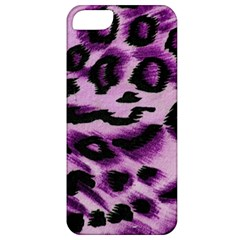 Background Fabric Animal Motifs Lilac Apple Iphone 5 Classic Hardshell Case by Amaryn4rt