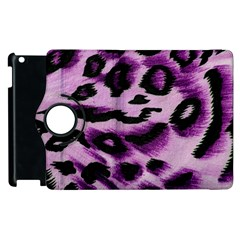 Background Fabric Animal Motifs Lilac Apple Ipad 2 Flip 360 Case by Amaryn4rt