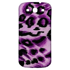 Background Fabric Animal Motifs Lilac Samsung Galaxy S3 S Iii Classic Hardshell Back Case by Amaryn4rt