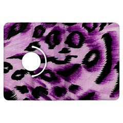 Background Fabric Animal Motifs Lilac Kindle Fire Hdx Flip 360 Case by Amaryn4rt