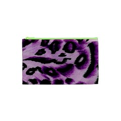 Background Fabric Animal Motifs Lilac Cosmetic Bag (xs) by Amaryn4rt