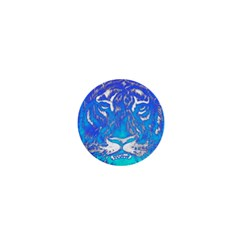 Background Fabric With Tiger Head Pattern 1  Mini Buttons by Amaryn4rt