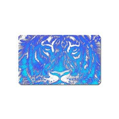 Background Fabric With Tiger Head Pattern Magnet (name Card) by Amaryn4rt