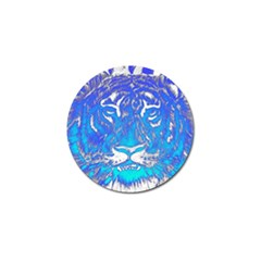 Background Fabric With Tiger Head Pattern Golf Ball Marker (4 Pack) by Amaryn4rt