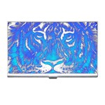 Background Fabric With Tiger Head Pattern Business Card Holders Front