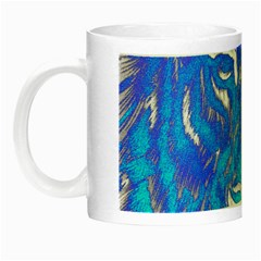 Background Fabric With Tiger Head Pattern Night Luminous Mugs by Amaryn4rt