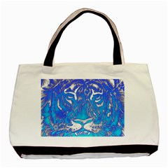 Background Fabric With Tiger Head Pattern Basic Tote Bag by Amaryn4rt