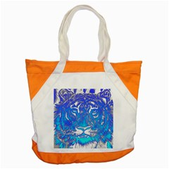 Background Fabric With Tiger Head Pattern Accent Tote Bag by Amaryn4rt