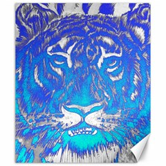 Background Fabric With Tiger Head Pattern Canvas 20  X 24   by Amaryn4rt
